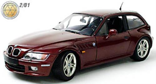 1 18 Ut Models Bmw Z3 Coupe 2 8 Burgundy Ebay
